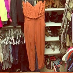 Burnt Orange Jumpsuit